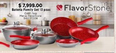 Oferta de Batería de cocina Flavor stone 13 pzas por $7999