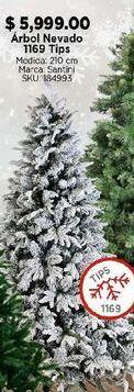 Oferta de Árbol de Navidad nevado por $5999