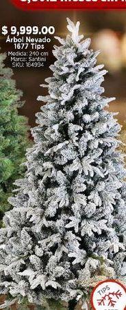 Oferta de Árbol de Navidad nevado por $9999