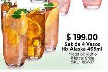 Oferta de Set de 4 vasos Hb Alaska 465 ml por $199
