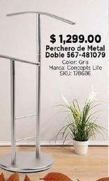 Oferta de Perchero de metal doble por $1299