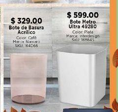 Oferta de Bote de basura baño acrílico por $329