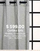 Oferta de Cortina gris por $599
