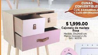 Oferta de Cajonera de madera rosa por $1999