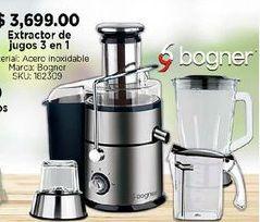 Oferta de Extractor de jugos 3 en 1 Bogner por $3699