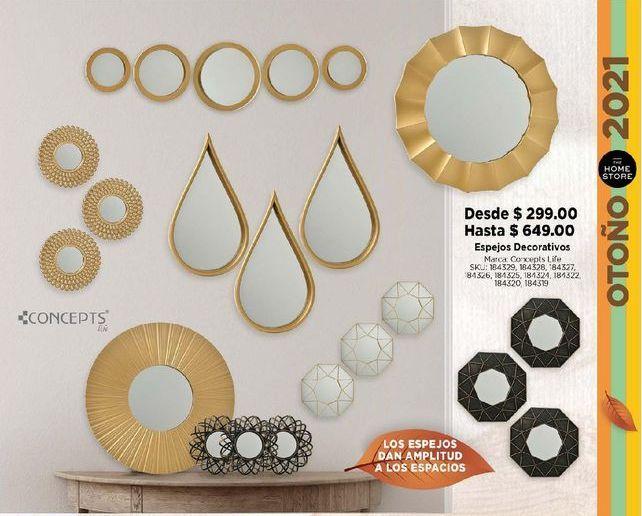 Oferta de Espejos decorativos por $299