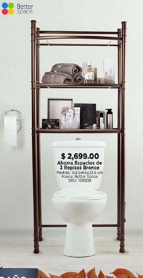 Oferta de Ahorra espacio de 3 repisas bronce por $2699