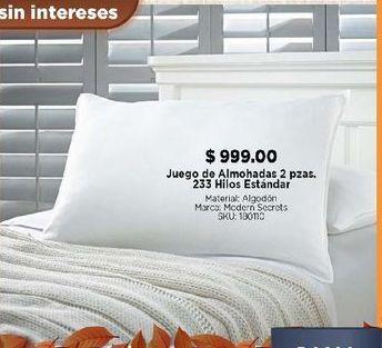 Oferta de Juego de almohadas 2 piezas por $999