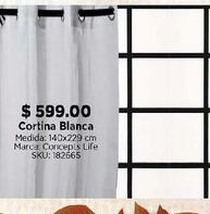 Oferta de Cortina blanca por $599