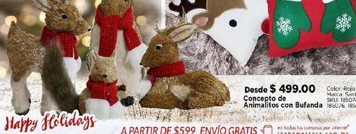 Oferta de Concepto de animalitos con bufanda por $499