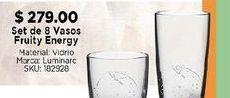 Oferta de Set de 8 vasos fruit energy por $279