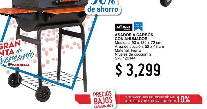 Oferta de Asador de carbón con ahumador por $3299