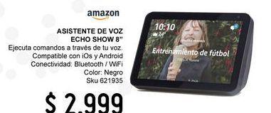 """Oferta de Asistente de voz Echo Show 8 con Pantalla Inteligente HD de 8"""" por $2999"""