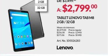 Oferta de Tablet Lenovo por $2799