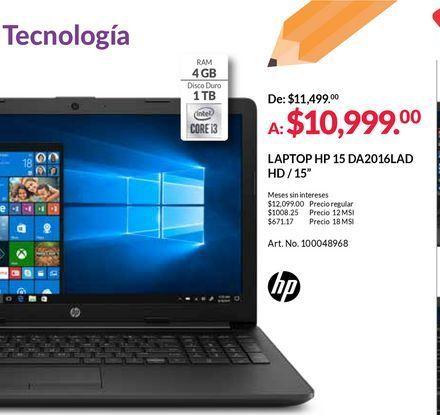 Oferta de Laptop HP por $10999