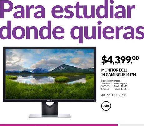 Oferta de Monitor led Dell por $4399