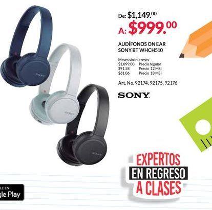 Oferta de Audífonos de diadema Sony por $999