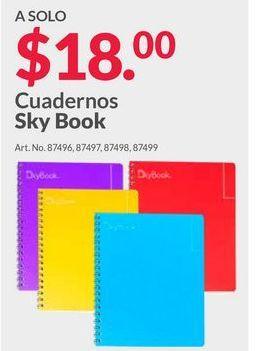 Oferta de Cuadernos Sky book por $18