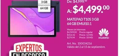 Oferta de Tablet Huawei por $4499