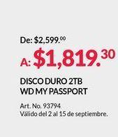 Oferta de Disco duro por $1819