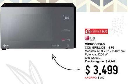 Oferta de Microondas con grill LG por $3499