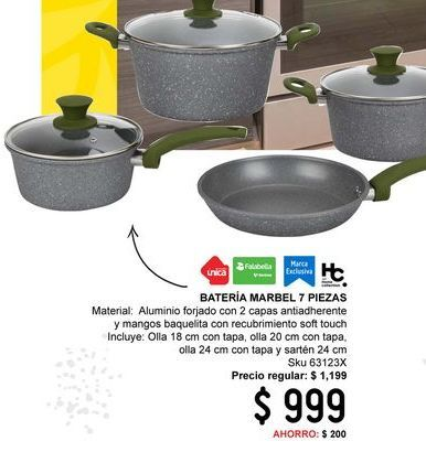 Oferta de Batería de cocina por $999
