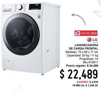 Oferta de Lavadora secadora LG por $22489