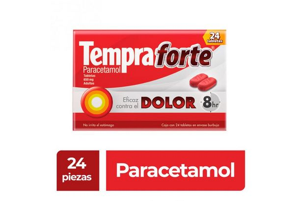 Oferta de Tempra Forte 650 mg Caja Con 24 Tabletas por $92