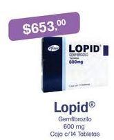 Oferta de Medicamentos Lopid por $653