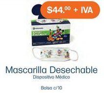 Oferta de Mascarilla desechableq por $44
