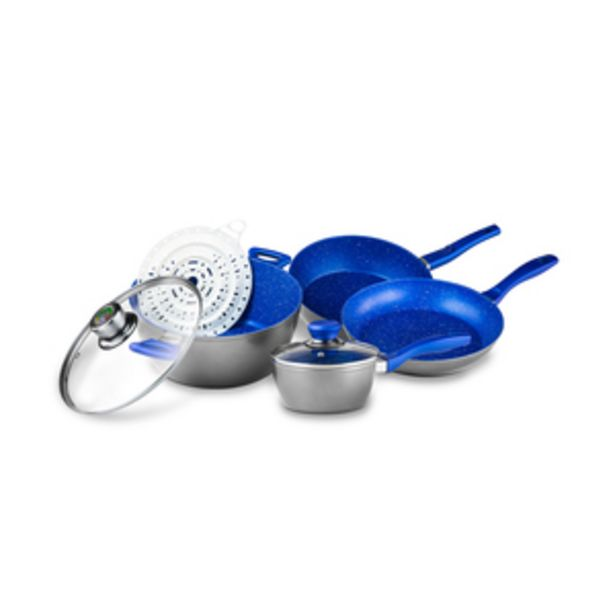 Oferta de Batería de Cocina FlavorStone System Azul (Pack de 7) por $3999.2