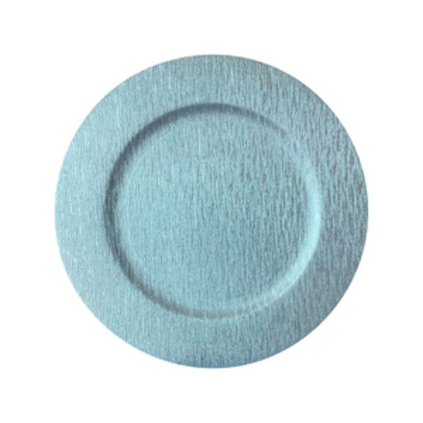 Oferta de Portaplato Navideño 33 cm Azul por $99