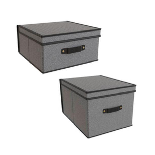 Oferta de Cajas Organizadoras Tokio (Pack de 2) por $599