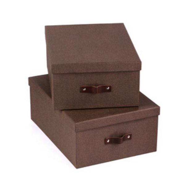 Oferta de Set 2 Cajas Grande Ulrika Bigso por $599.4