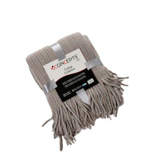 Oferta de Cobija cobertor Concepts Gris Estándar por $599.4