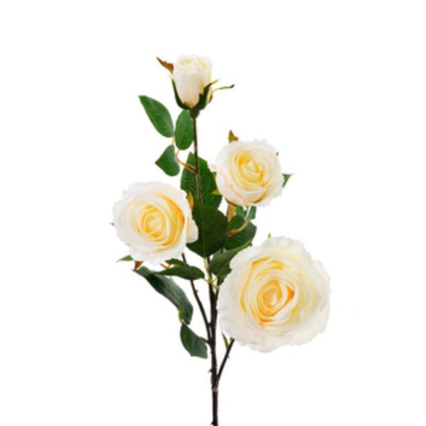 Oferta de Rosas blancas artificiales 78cm por $349