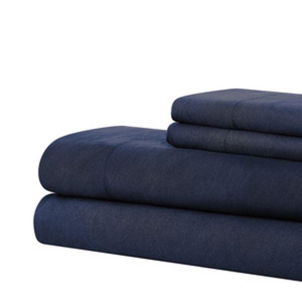 Oferta de Set Sábanas Solid Ind Azul por $299.4