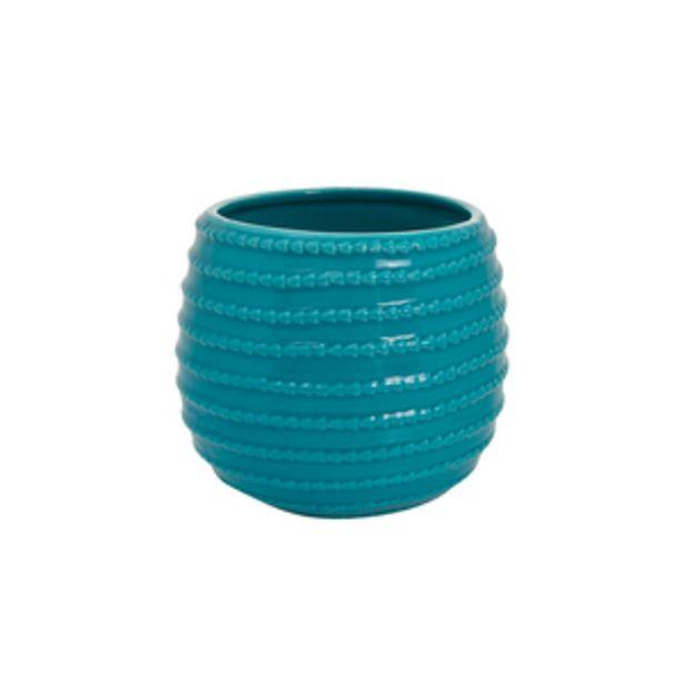 Oferta de Maceta con Relieve 13 cm Azul por $299