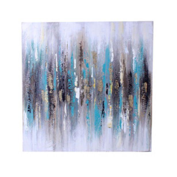 Oferta de Cuadro Decorativo Pinceladas 80 cm Azul por $1199