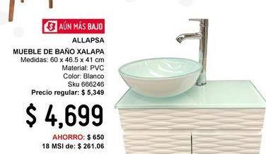 Oferta de Mueble de baño Xalapa Bco por $4699