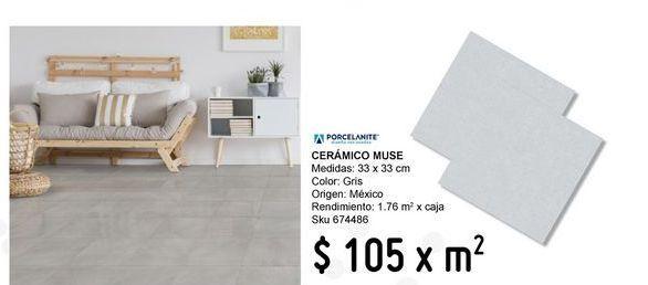 Oferta de Piso 33x33 muse gris por $105