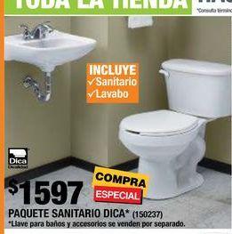 Oferta de PAQUETE SANITARIO DICA 2 PIEZAS REDONDO  por $1597