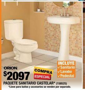 Oferta de PAQUETE SANITARIO CASTELAR  por $2097