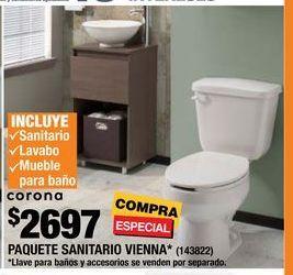 Oferta de PAQUETE SANITARIO VIENNA  por $2697