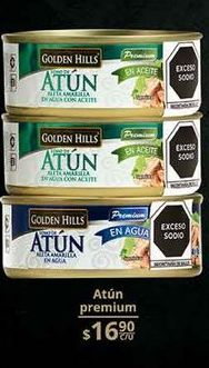 Oferta de Atún enlatado Golden Hills por $16.9