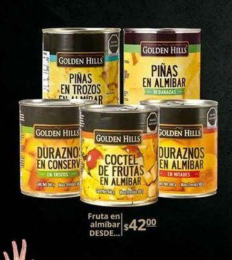 Oferta de Fruta en almíbar Golden Hills por $42