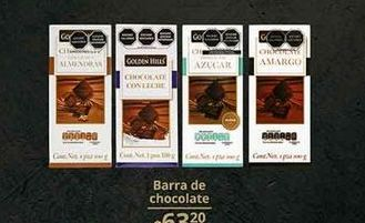 Oferta de Chocolate Golden Hills por $63.2