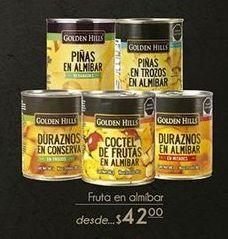 Oferta de Fruta en almibar  Golden Hills por $42