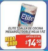 Oferta de Toalla de cocina megaroll doble hoja 1pz Elite por $14.5