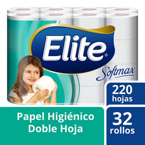 Oferta de Papel Higiénico Elite Softmax 32 rollos con doble hoja por $12900